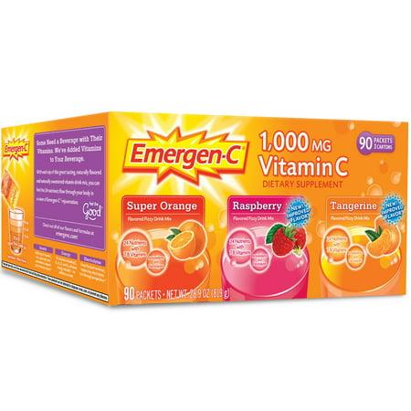 Emergen-C Variety Flavor Pack - 90 ct.