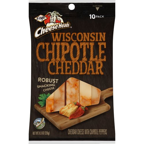 Frigo Cheese Heads Wisconsin Chipotle Cheddar Cheese Sticks, 10 count, 8.3 oz