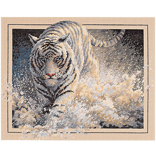 "Dimensions Gold Collection ""White Lightning"" Counted Cross Stitch Kit, 15"" x 12"""