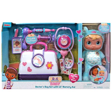 Disney Baby Doctor's Bag Set with Lil' Nursery Pal Playset -