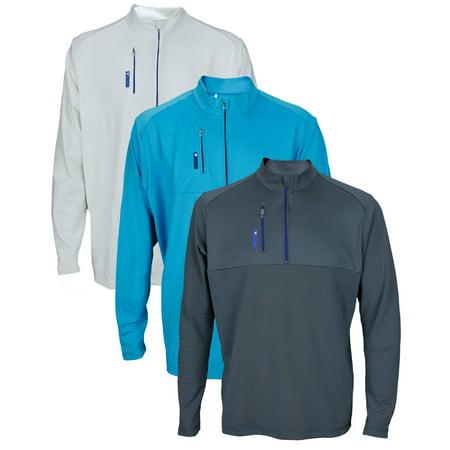 Adidas Golf Men's TaylorMade Mixed Media 1/4 Zip Up Pull Over Sweater Shirt