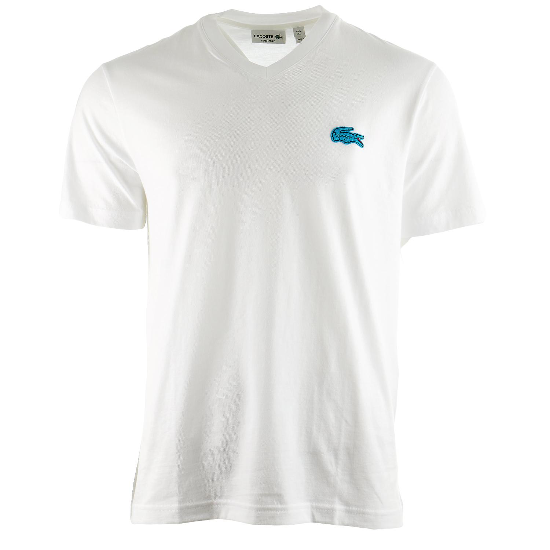 Lacoste V-Neck Logo T-Shirt  - Mens