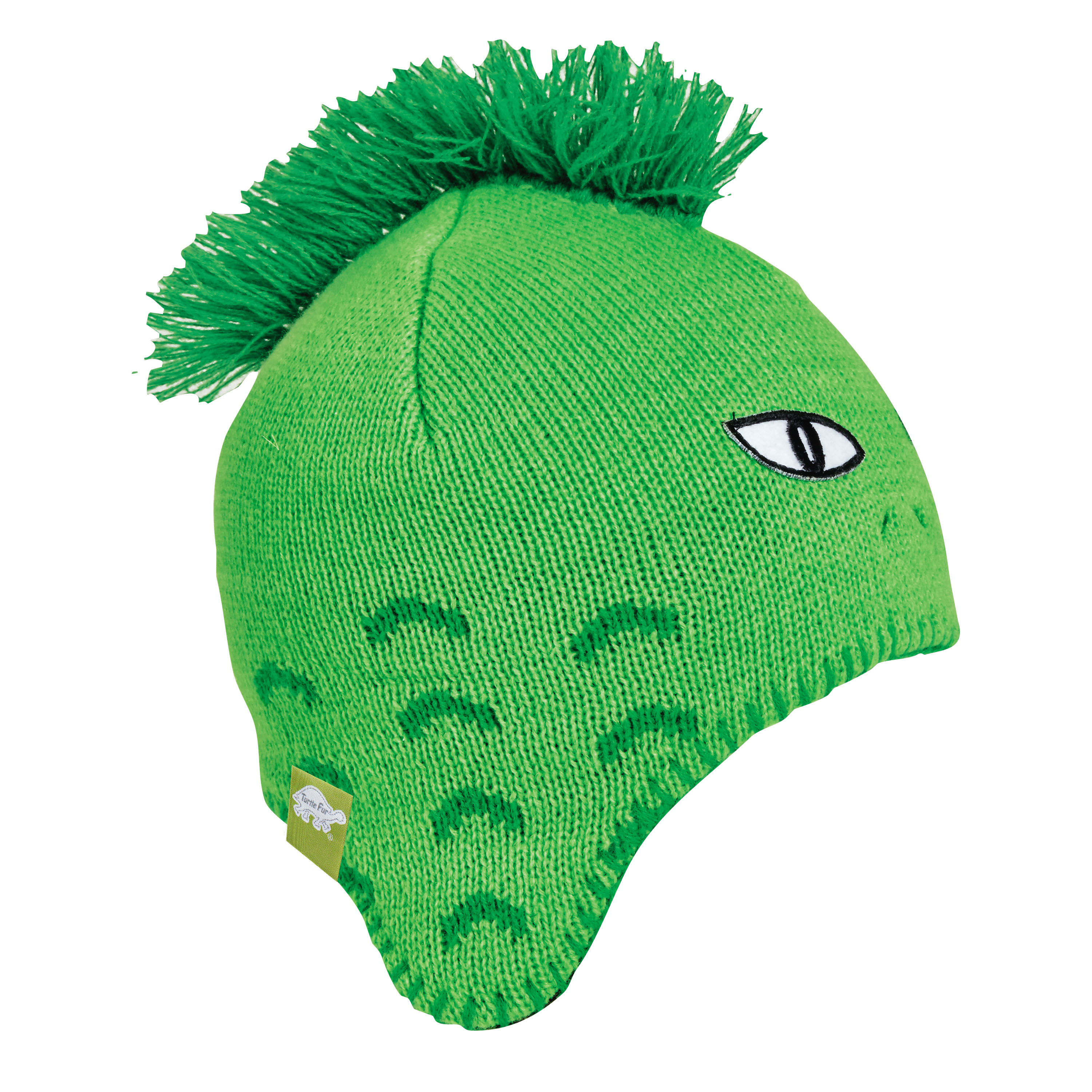 Turtle Fur Kids Lizard Boy Reptile Earflap Winter Hat Flo Green
