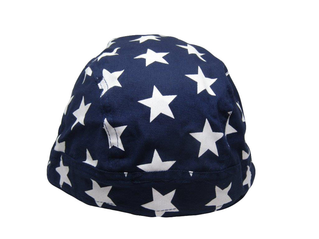 Do Rag Doo Rag Skull Cap Head Wrap USA American Blue Stars United States U.S