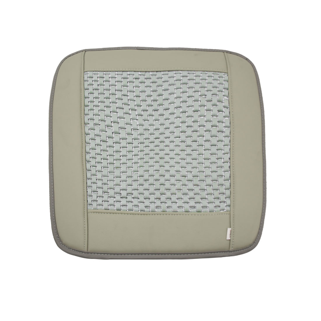 Gray Square Shaped PU Leather  Cushion Cover Pad for Car Automobile