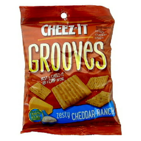 Product Of Cheez-It Grooves, Zesty Cheddar Ranch, Count 6 (3.25 oz) - Cookie & Cracker / Grab Varieties & Flavors