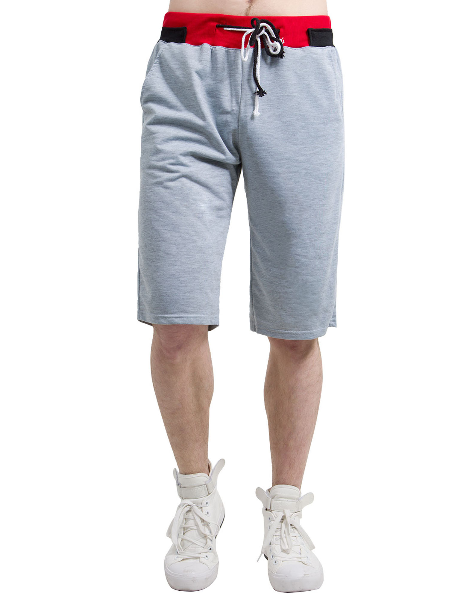 TBVS 79 Straight Outta Los Angeles Mens Elastic Waist Beach Board Shorts with Pocket Drawstring