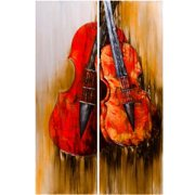 DecorFreak Red Guitars Painting Set