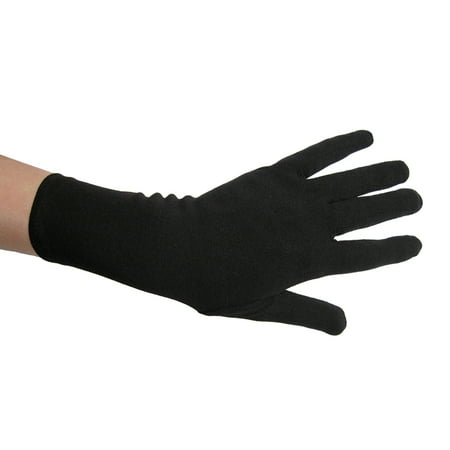 SeasonsTrading Black Costume Gloves (Wrist Length) - Prom, Dance, Party - Light Up Dance Costumes