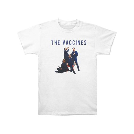 Vaccines Men's  Album Art Slim Fit T-shirt White Album White T-shirt