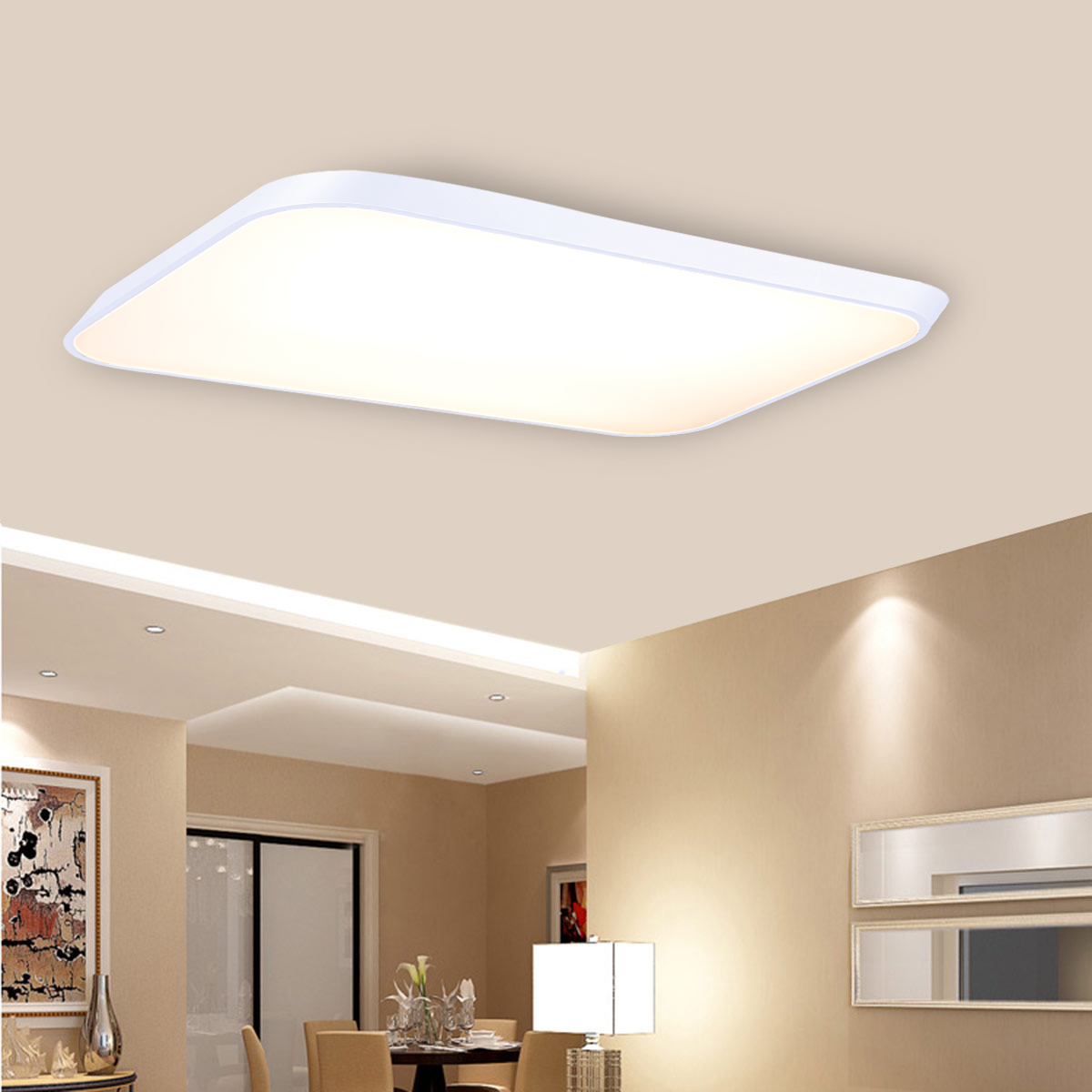 Floureon Super Thin Modern 42W LED Ceiling Light Flush Mount Pendant ...