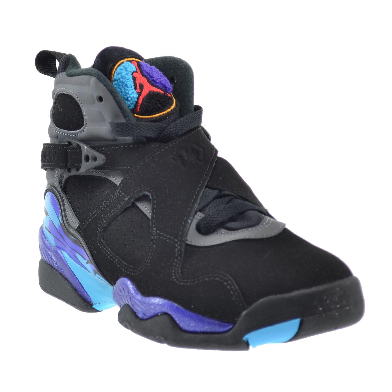 Air Jordan 8 Retro BG Big Kids Shoes Black/True Red-Bright Concord 305368-025