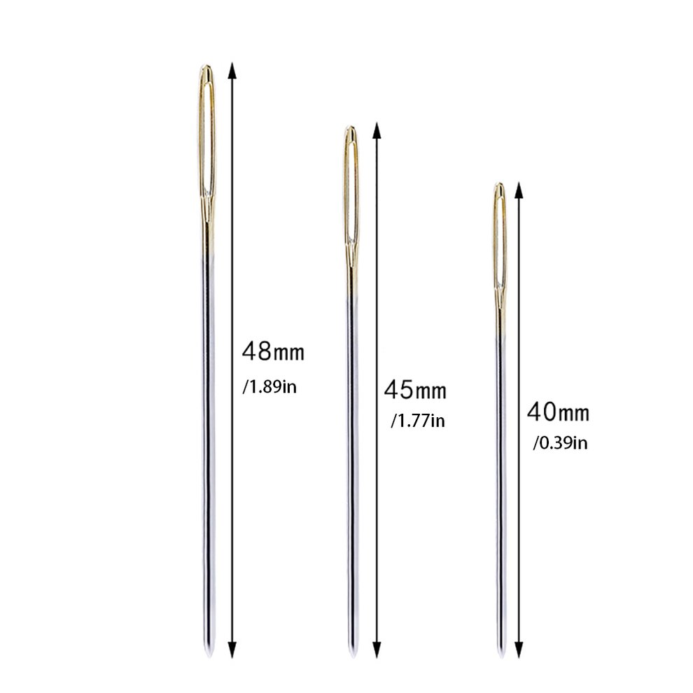 C01-006-00065 Large Eye Needles Leather Sewing Needle Needle Embroidery Tapestry Hand Sewing Accessories