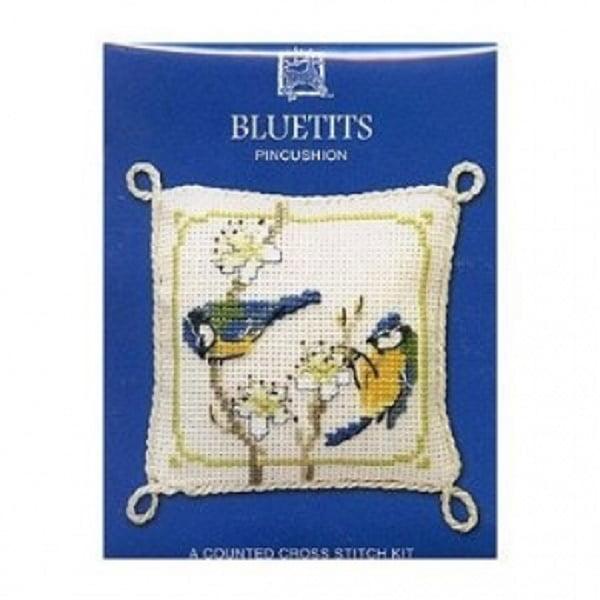 Textile Heritage Pincushion Counted Cross Stitch Kit - Bluetits