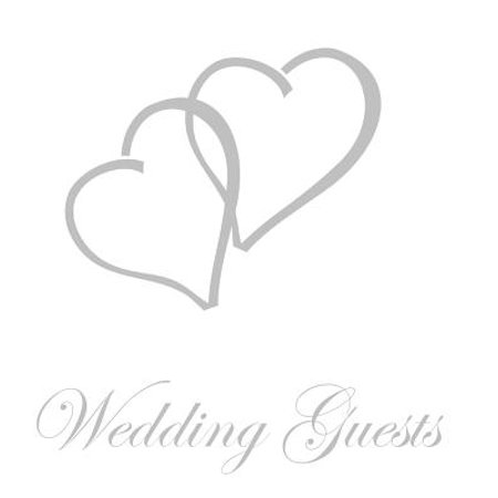 Silver Leaf Guest Book - Wedding Guest Book, Bride and Groom, Special Occasion, Comments, Gifts, Well Wish's, Wedding Signing Book with Silver Love Hearts (Hardback)