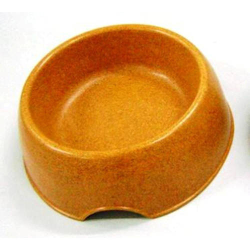 483963 Green Pet Bamboo Dog Bowl, Large Orange