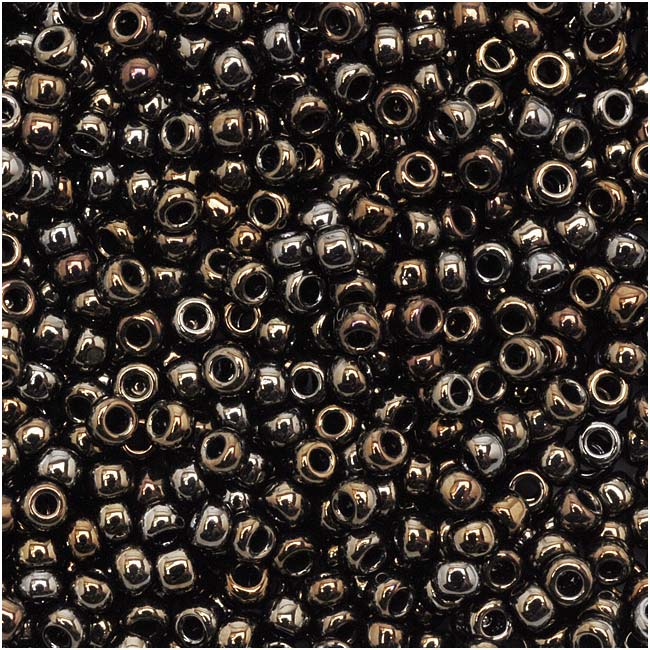 Toho Round Seed Beads 11/0 #83 'Metallic Iris Brown' 8 Gram Tube