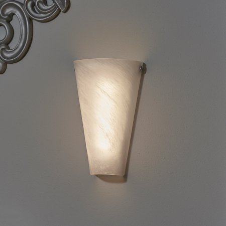 Frosted Marble Glass Conical Sconce