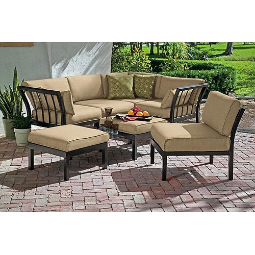 Ragan Meadow 7-Piece Outdoor Sectional Sofa Set, Seats 5