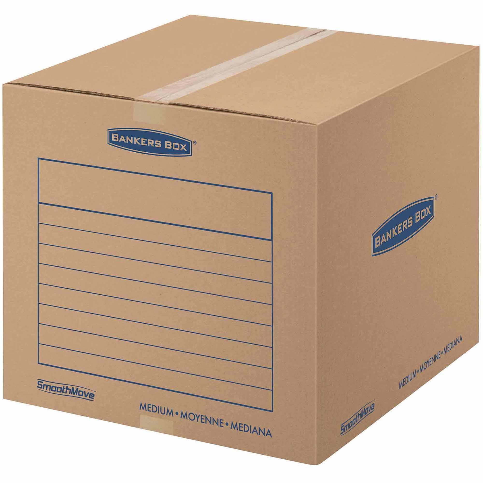 Bankers Box Smoothmove Basic Storage and Moving Box, Medium, 10pk