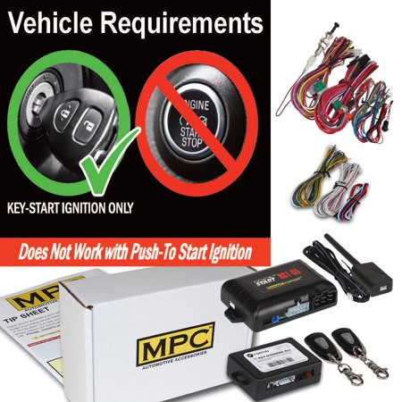 Complete 1-Button Remote Start Kit For 2007 Ford F-350 Includes Bypass 2007 Ford F-350 Husky