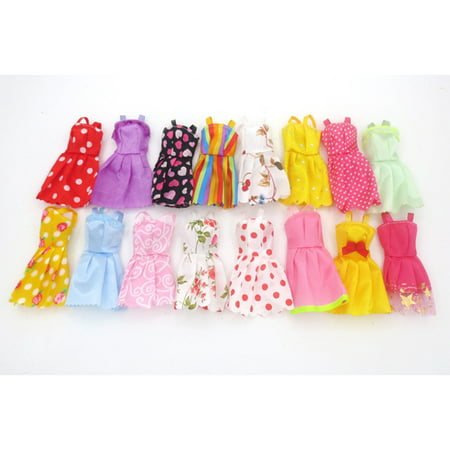 6 PCS Handmade Fashion Outfit Clothes for Dolls Clothing Doll Accessories Kids Gift (Style Color Random ) ()