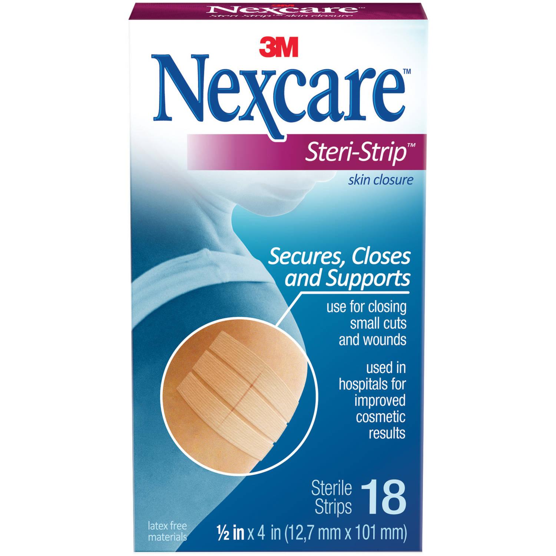 Nexcare Steri-Strip Skin Closure, 1/2 in x 4 in, 18 Strips