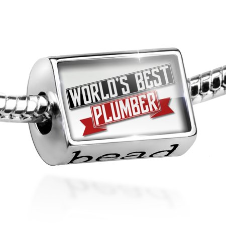 Bead Worlds Best Plumber Charm Fits All European (Best Plumber In The World)