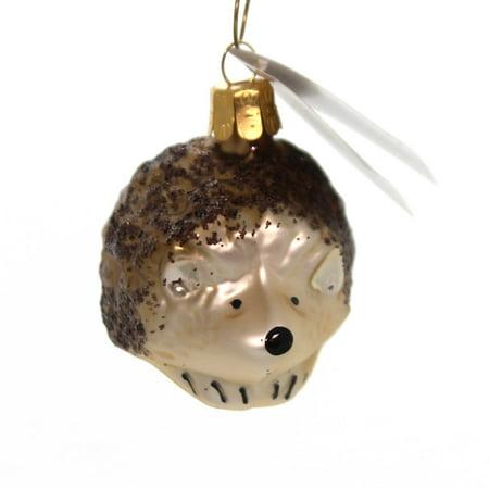 Golden Bell Collection GLITTERED HEDGEHOG Glass Ornament Czech Animal An463 ()
