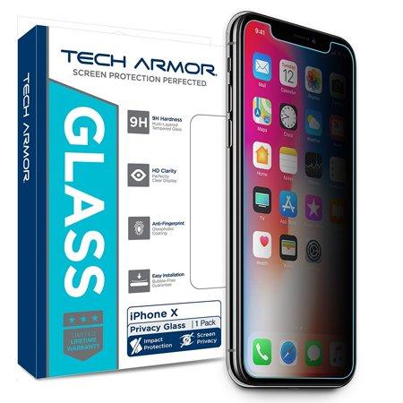 Tech Armor Apple iPhone X (iPhone 10) Privacy Ballistic Glass Screen Protector