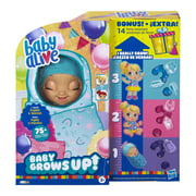 Baby Alive Baby Grows Up Walmart Exclusive, 1 Growing Doll Toy, 14 Party Surprises