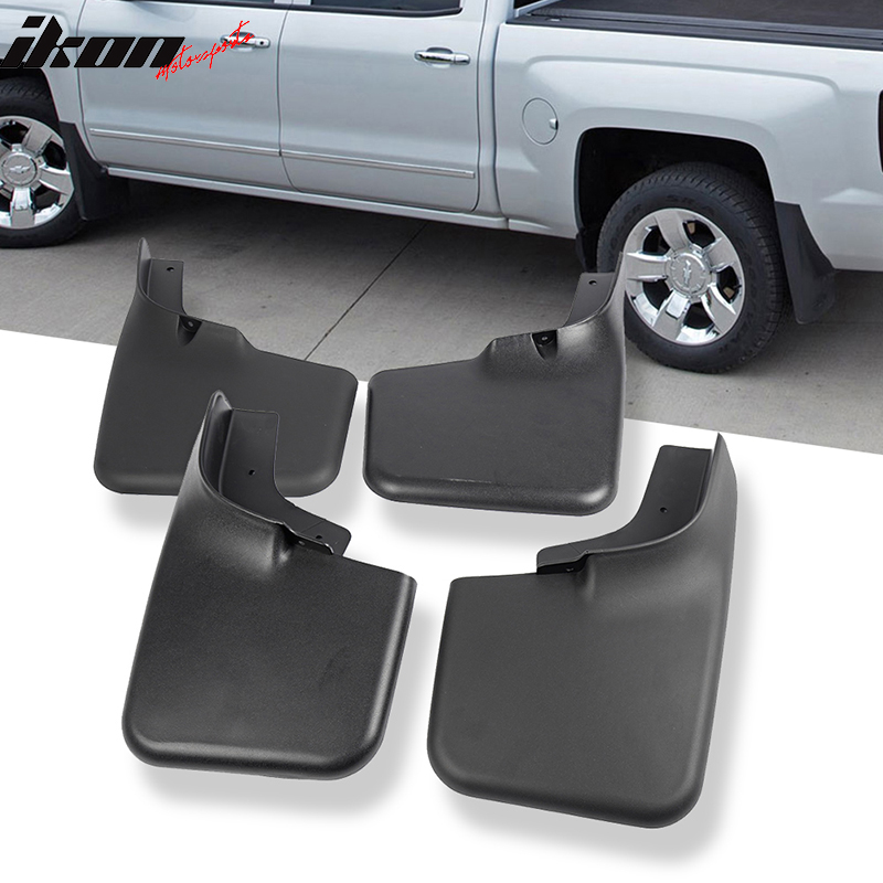 Fits 04-14 Ford F150 Mud Flaps Splash Mud Guards With Fender Flares 4Pc Set