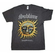 Rockline FEA-SI1366-S Sublime Logo Stamp Sun Soft Adult Mens T-Shirt, Heather Charcoal - Small