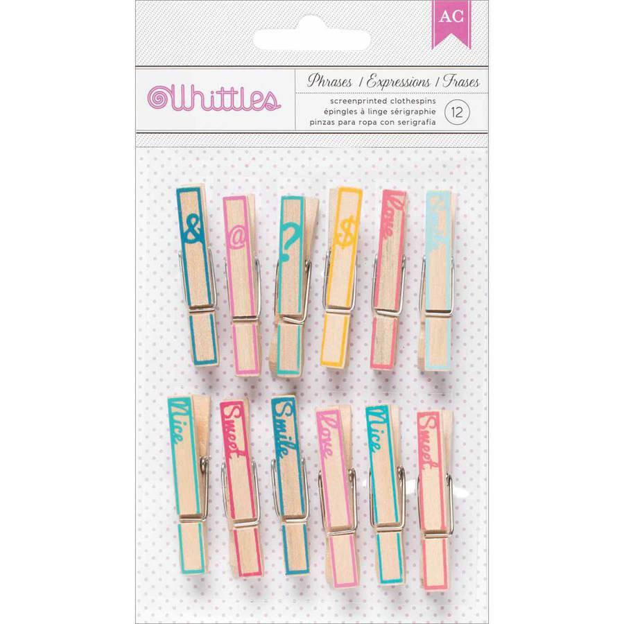 Whittles Clothespins, 12-Pack