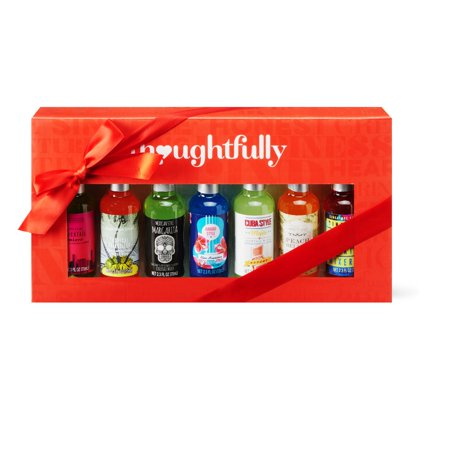 Thoughtfully Global Cocktail Mixers Gift Set 7 Pack | Contains 7 Unique Drink Flavors Including Peach Bellini, Margarita, Blue Hawaiian and More… ()
