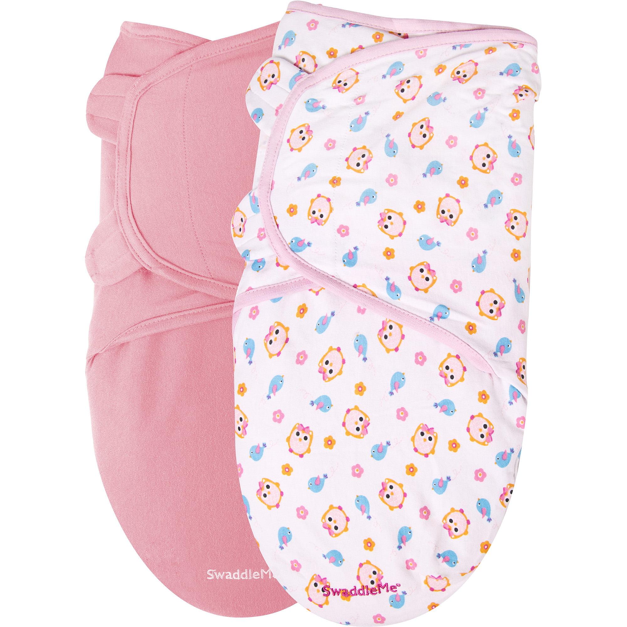 Garanimals SwaddleMe Infant Wrap, 2-Pack, Sweet Tweet, Size 0-6 Months