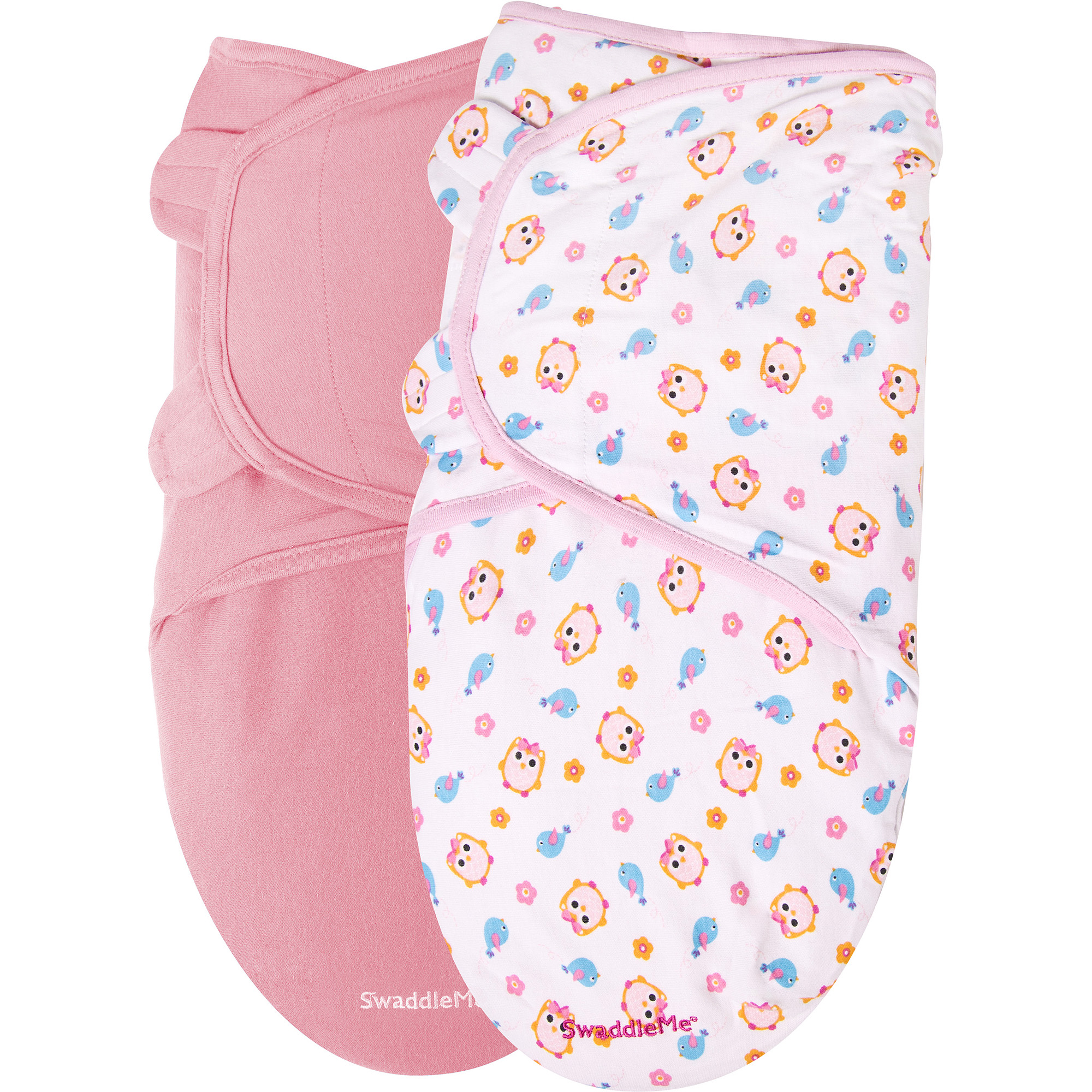 Garanimals SwaddleMe Infant Wrap, 2-Pack, Sweet Tweet, Size 0-6 Months