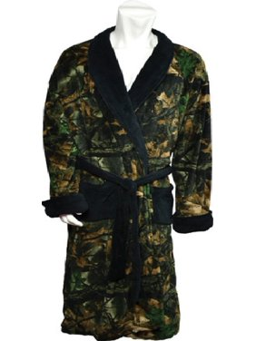 e576a64bf8 Product Image Mens Large Highland Timber Camo Fleece Robe with Black Accents