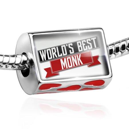 Bead Worlds Best Monk Charm Fits All European Bracelets - Monk Beads