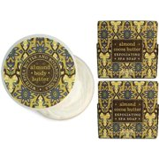 Madame Earth Almond and Cocoa Butter Exfoliating Botanical Bath Soaps with Matching Body Butter Set