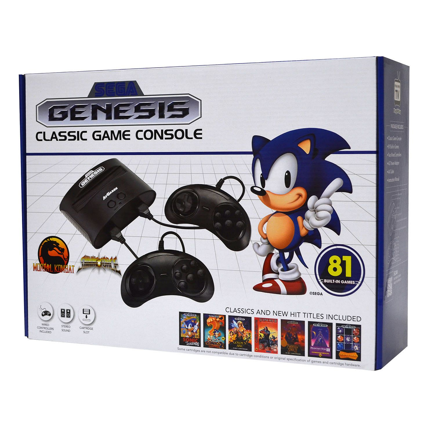 Sega Genesis Classic Console with 81 Built-in Games by
