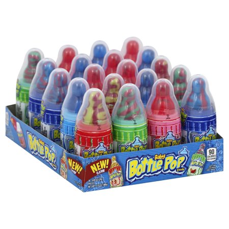 Baby Bottle Pop Original, Assorted Flavors Lollipops with Powdered Candy, .85oz, 20 (Best Candy Coating For Cake Pops)