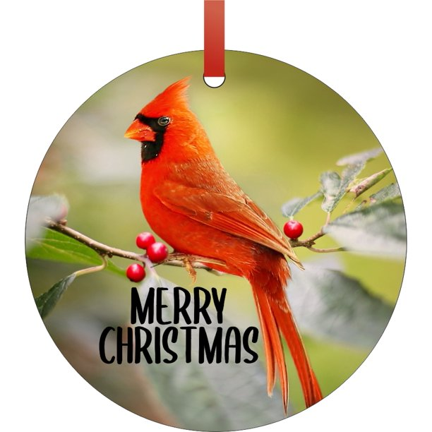 Christmas Decoration Cardinal Bird Merry Christmas Ornament Christmas Da C Cor Walmart Com Walmart Com