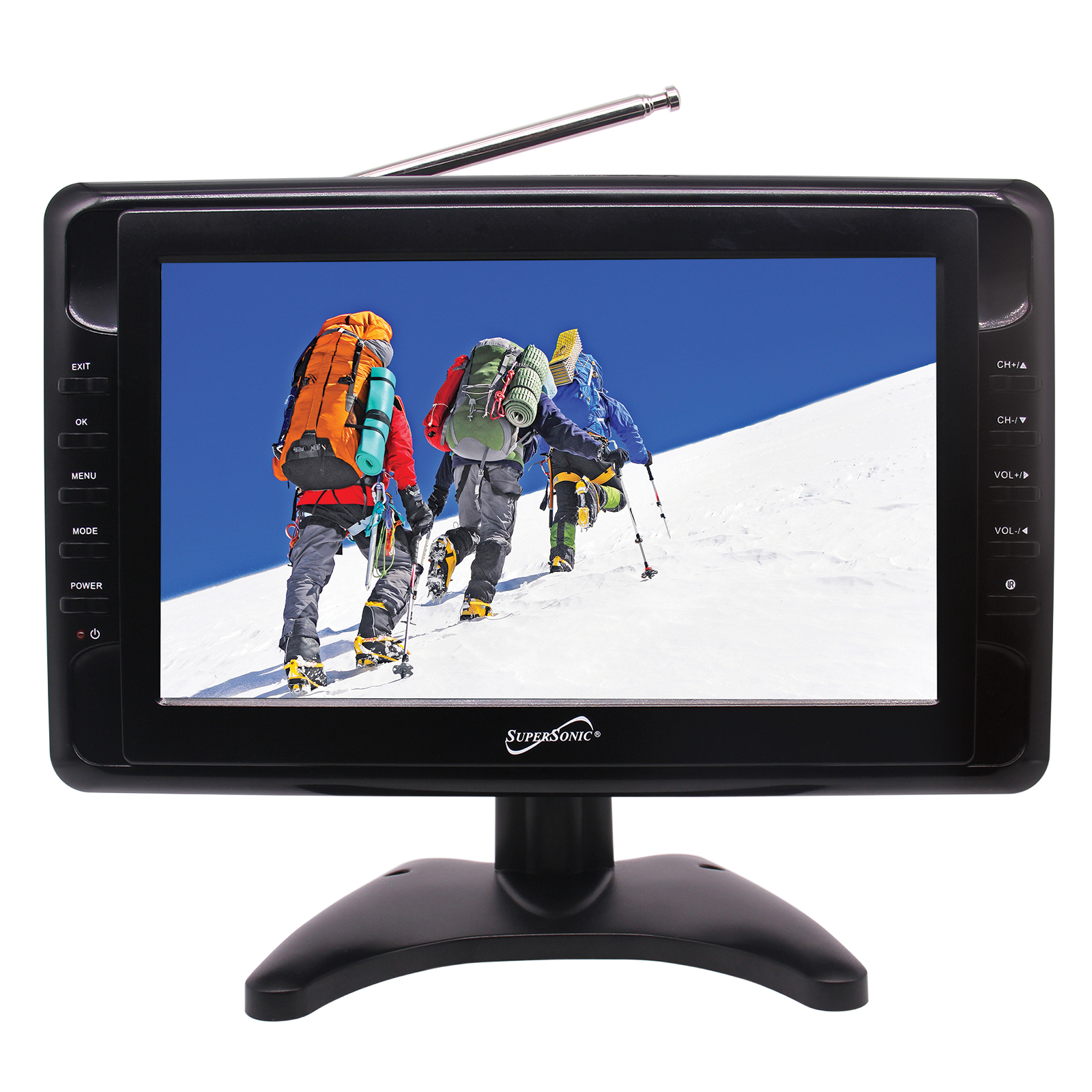 supersonic 10 in portable lcd television with built in. Black Bedroom Furniture Sets. Home Design Ideas