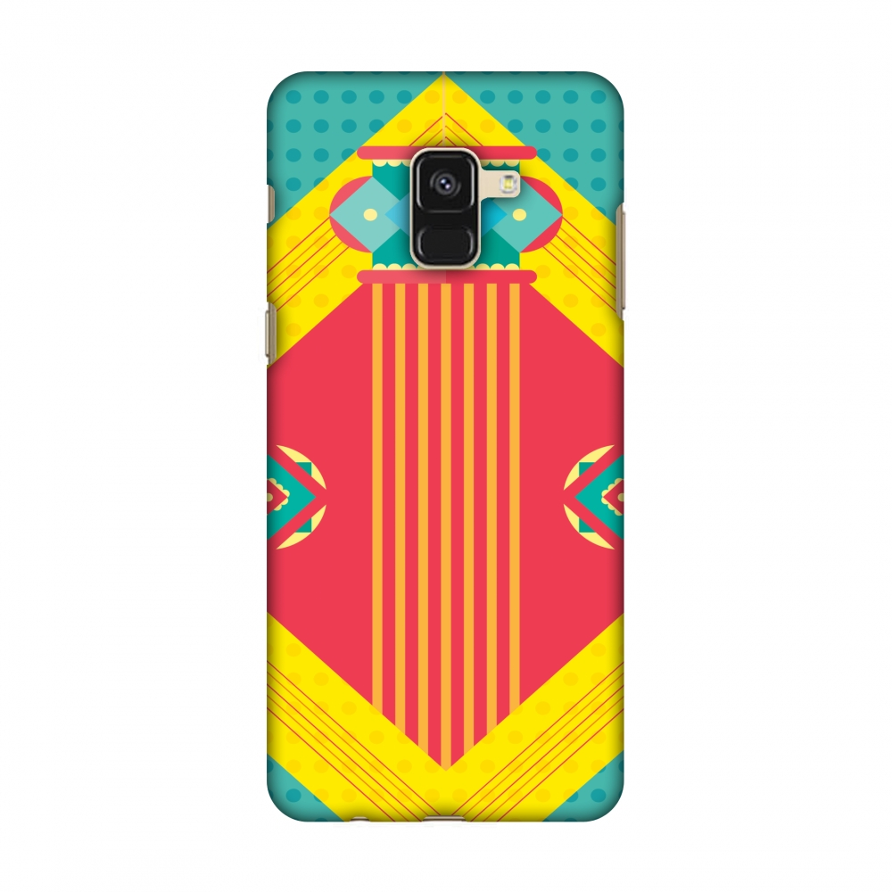 Samsung Galaxy A8 2018 Case - Let There Be Lamp, Hard Plastic Back Cover, Slim Profile Cute Printed Designer Snap on Case with Screen Cleaning Kit