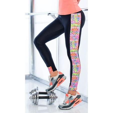47a200a5f5da1 Mapale - Watercolor Gym Leggings, Colorful Workout Pants - Walmart.com