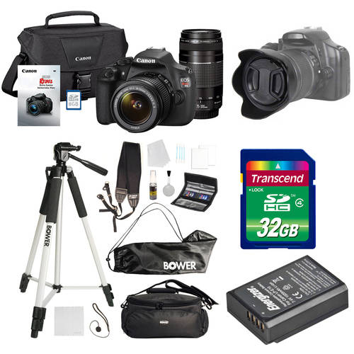 Canon Black Rebel T5 18 MP Digital SLR Camera Bundle with Bonus 32GB Memory Card and Accessory kit