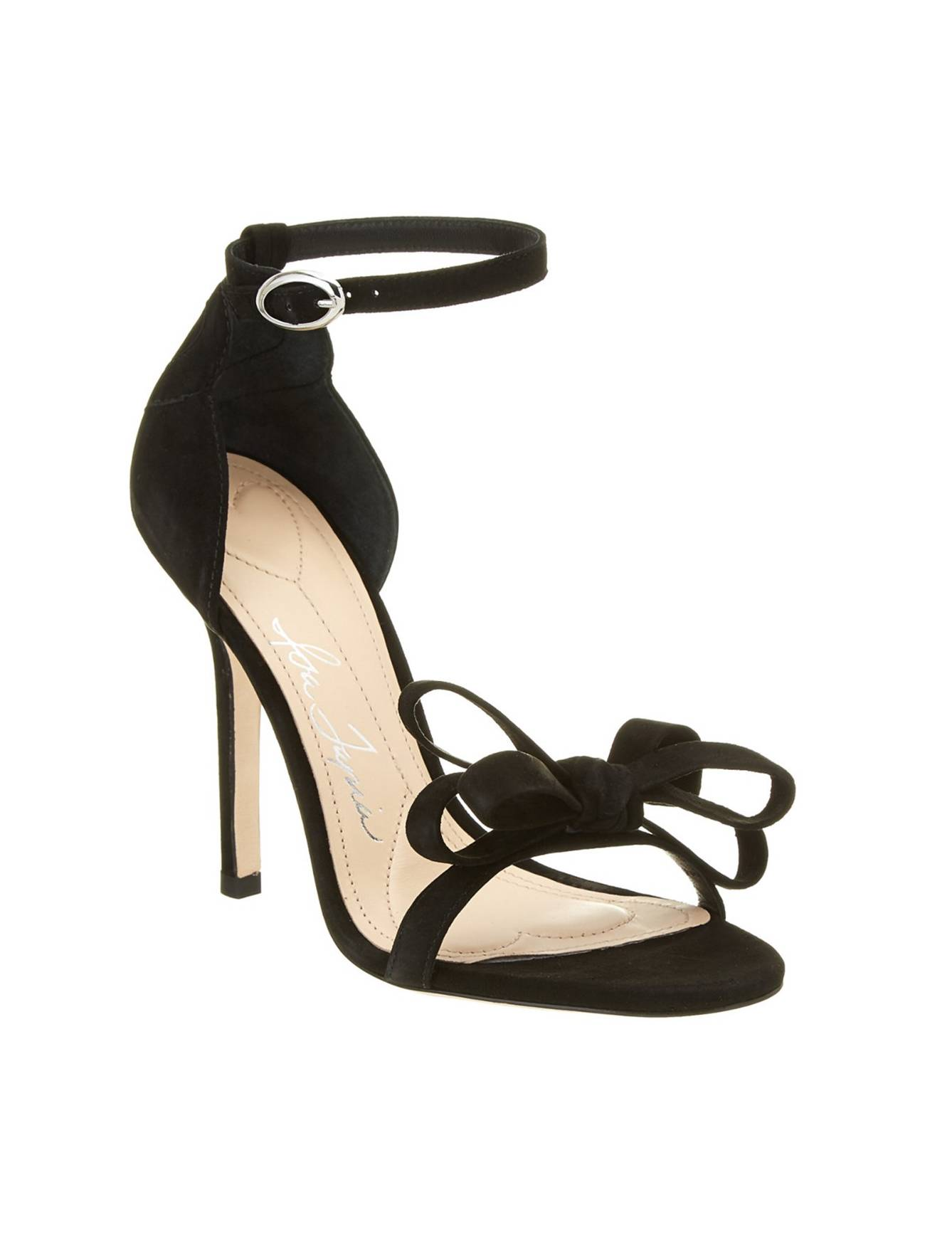 Isa Tapia Shelby Bow Open-Toe Stiletto Heels Sandals Multiple Colors