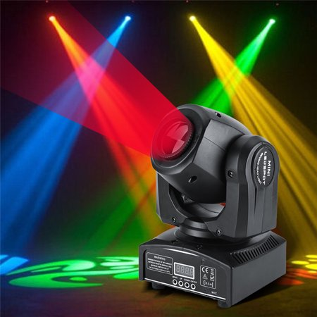 2PC 7/10 Stage Lights, 8 Colors + Half Color Effect + Color Rotation Speed RGBW LED Moving Head Light New DMX512 Stage Party DJ Wash Beam Lighting