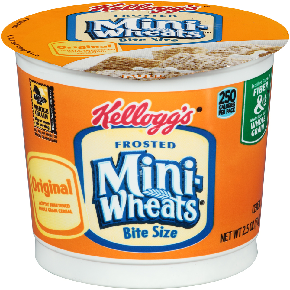 Kellogg's Frosted Mini-Wheats Bite Size Breakfast Cereal 2.5oz Cup 12 Ct